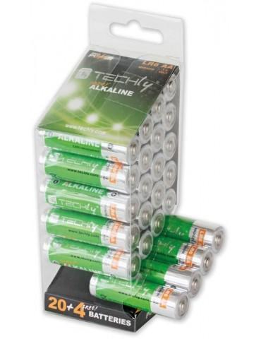 Techly Multipack 24 Batterie High Power Stilo AA Alcaline LR06 1,5V (IBT-KAL-LR06-B24T)