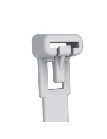 Techly Fascette Fermacavi con Linguetta 250x7,6mm in Nylon 100pz Bianco (ISWT-876250)