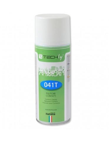 Techly Spray di Pulizia Contatti Elettrici ed Elettronici 400ml (ICA-CA 041T)