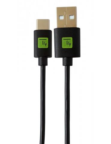 Techly ICOC MUSB20-CMAM01T cavo USB 0,1 m 2.0 USB A USB C Nero