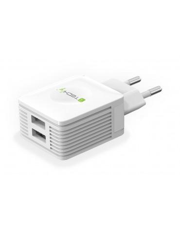 Techly IPW-USB-EC152W Caricabatterie per dispositivi mobili Interno Bianco