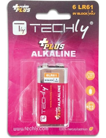 Techly Blister 1 Batteria Power Plus Alcalina 6LR61 9V (IBT-KAP-LR61T)