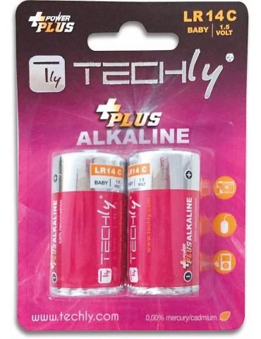 Techly Blister 2 Batterie Power Plus Mezza Torcia C Alcaline LR14 1,5V (IBT-KAP-LR14T)