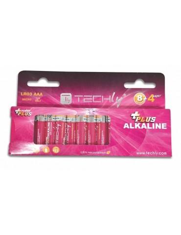 Techly Blister 12 Batterie Power Plus Mini Stilo AAA Alcaline LR03 1,5V (IBT-KAP-LR03-B12T)