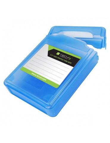 """Techly Scatola di Protezione per 1 HDD 3,5"""" Azzurro Trasparente (ICA-HD 35B)"""